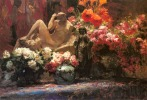 Bastien_Alfred_A_Floral_Still_Life_With_Sculpture