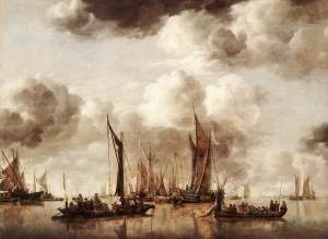 CAPELLE_Jan_van_de_Dutch_Yacht_Firing_A_Salvo