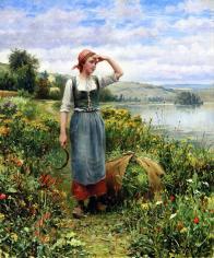 Knight_Daniel_Ridgway_A_Field_of_Flowers