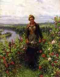 Knight_Daniel_Ridgway_A_Maid_in_Her_Garden