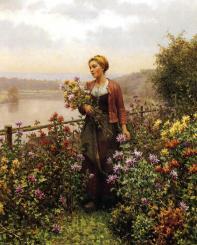 Knight_Daniel_Ridgway_Woman_in_a_Garden
