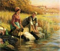 Knight_Daniel_Ridgway_Women_Washing_Clothes_by_a_Stream