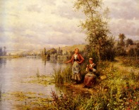 Knight_Louis_Aston_Country_Women_After_Fishing_On_A_Summer_Afternoon