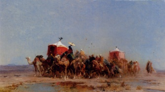 Pasini_Alberto_Caravan_In_The_Desert