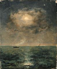 Stevens_Alfred_Moonlit_seascape